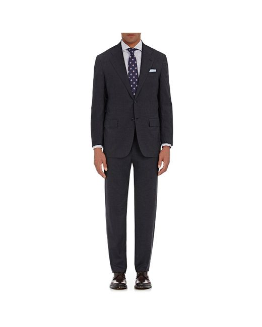 Kiton | Gray Micro-striped Worsted Two for Men | Lyst