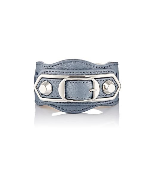 Balenciaga   Blue Metallic Edge Bracelet   Lyst