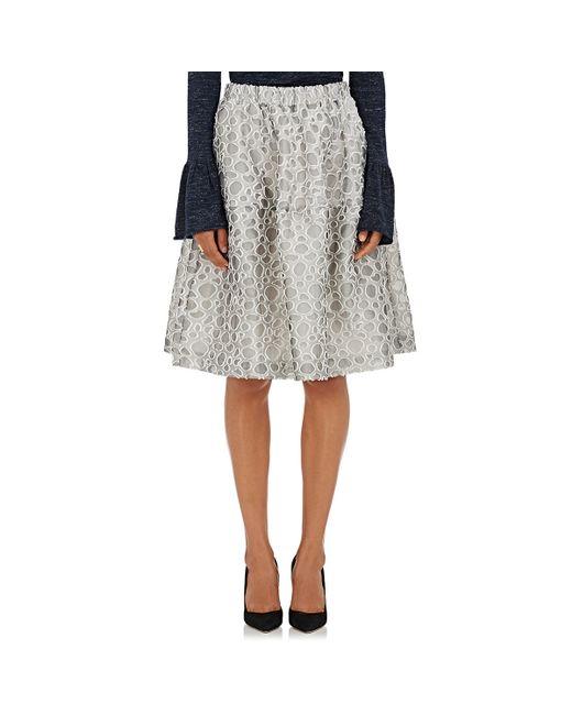 co s dot pattern a line skirt in multicolor white