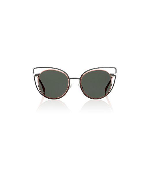 8bb5bba7a7d8 Fendi Women s Cat-eye Black   Gold Sunglasses