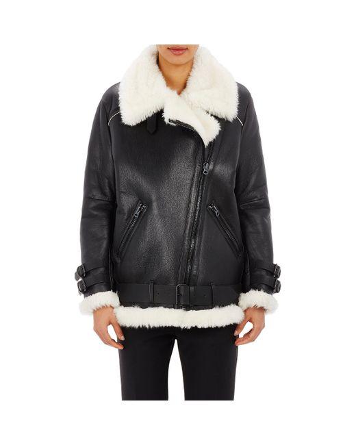 Acne | Black Women's Oversized Velocite Moto Jacket | Lyst