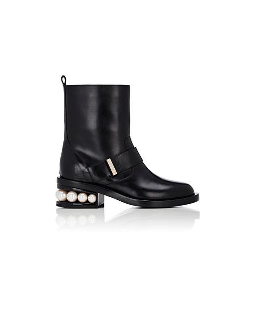 Nicholas Kirkwood | Black Pearl-inset Moto Boots | Lyst