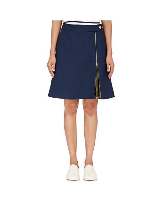 harvey faircloth piqu 233 a line skirt in blue lyst