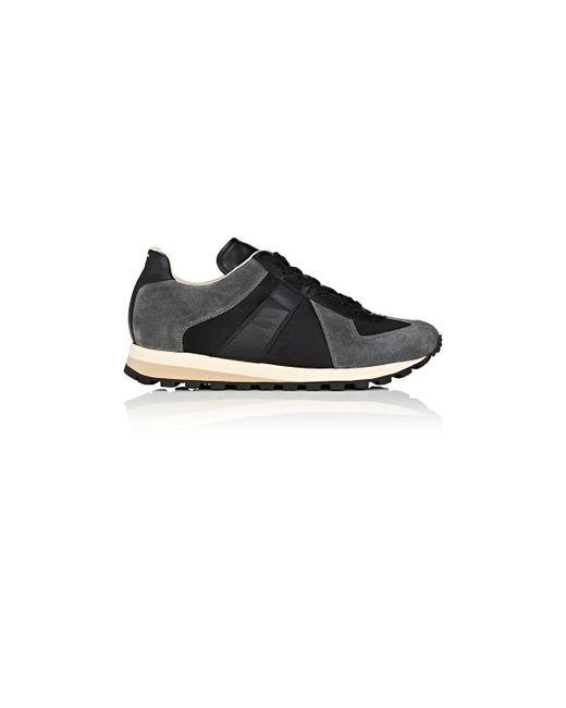 Maison Margiela   Black Retro Runner Sneakers   Lyst