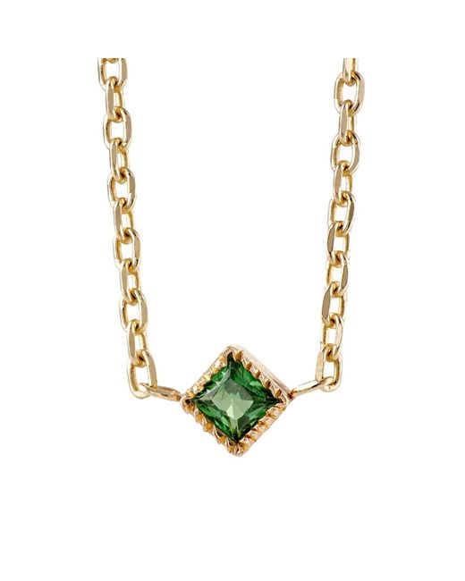 Bianca Pratt | Metallic Emerald Choker Necklace | Lyst