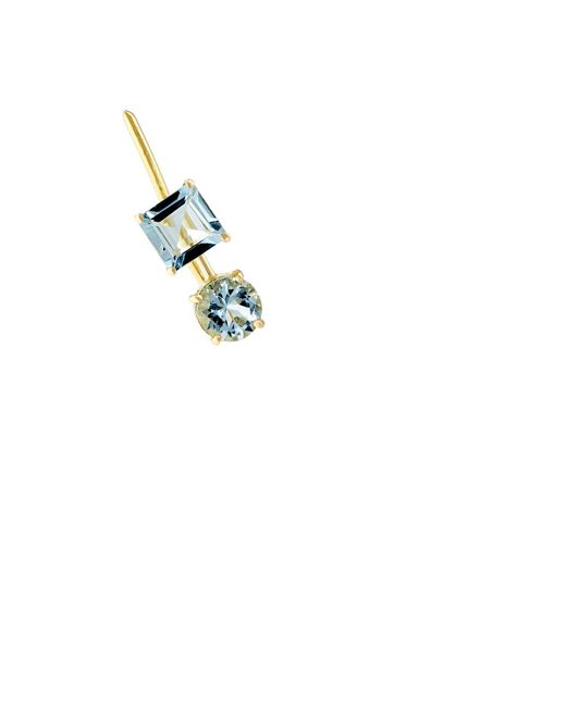 Ileana Makri | Metallic Aquamarine Ear Pin | Lyst