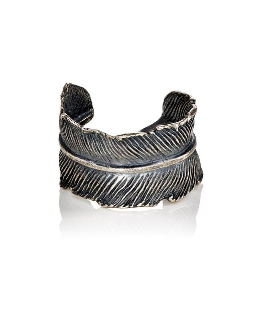M. Cohen | Metallic Feather Cuff Ring | Lyst