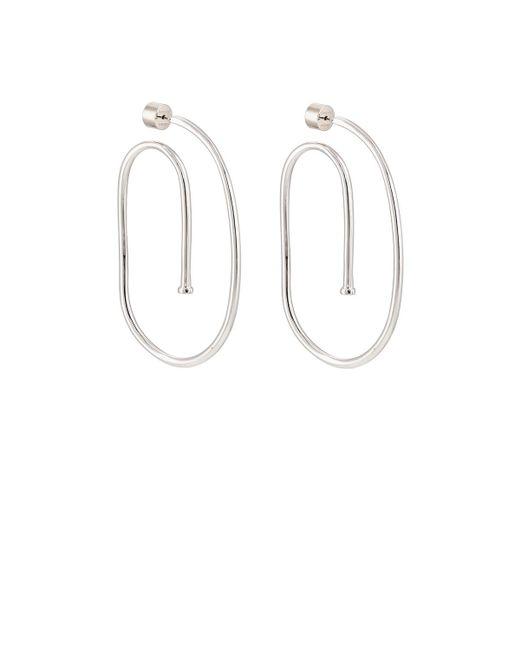 Jennifer Fisher | Metallic Large Pipe Hoop Earrings | Lyst