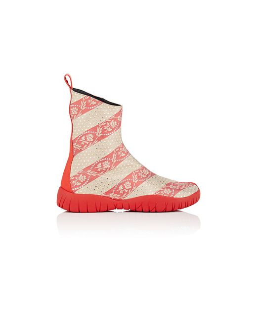 Maison Margiela   Red Tabi Jacquard Ankle Boots   Lyst