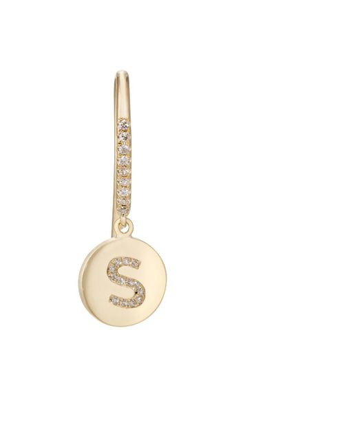 Jennifer Meyer | Metallic Mini Inital Drop Earring | Lyst