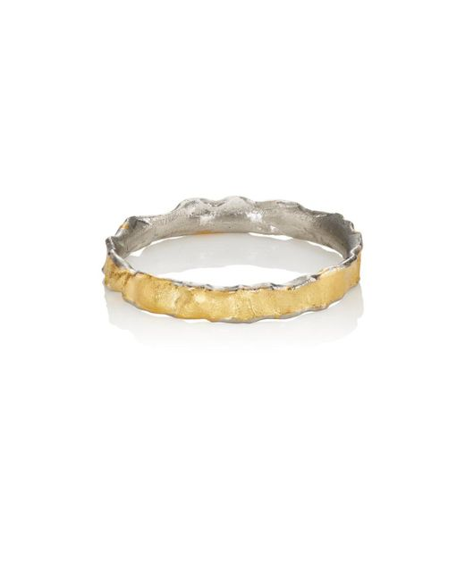 Malcolm Betts | Metallic Molten Ring | Lyst