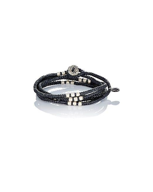 M. Cohen | Black Knotted Wrap Bracelet for Men | Lyst