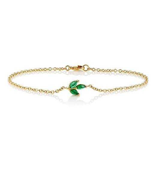 Finn   Metallic Leaf Charm Bracelet   Lyst