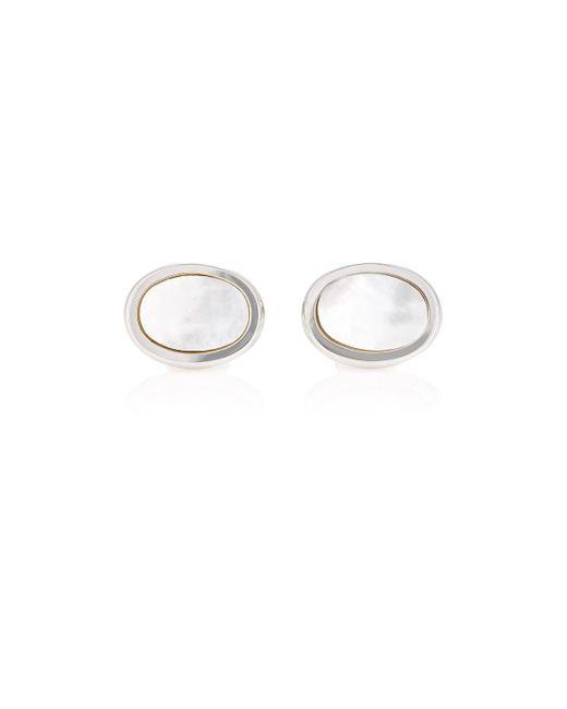 Barneys New York | White Oval Cufflinks for Men | Lyst
