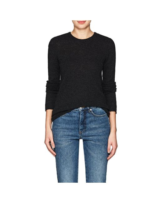 Atm Cashmere Crewneck Sweater in Black | Lyst