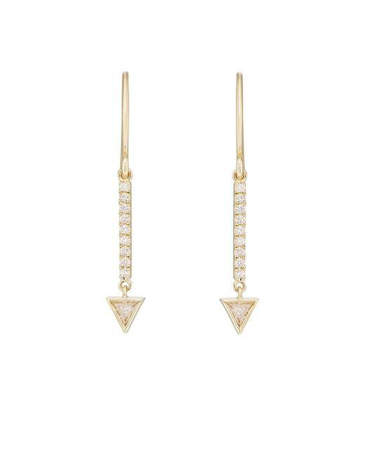 Jennifer Meyer - Metallic Diamond Mini Stick Trillion Drop Earrings - Lyst