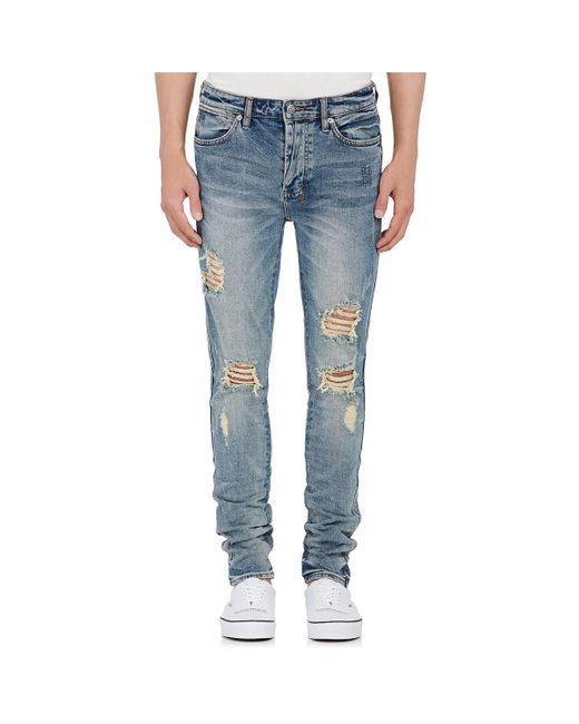 Ksubi - Blue Van Winkle Distressed Skinny Jeans for Men - Lyst
