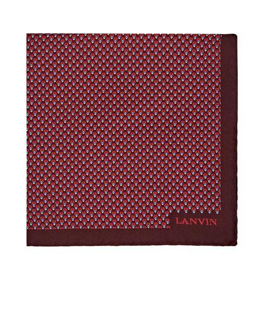 Mens Geometric-Bug-Print Silk Pocket Square Lanvin 9wqn7DQ