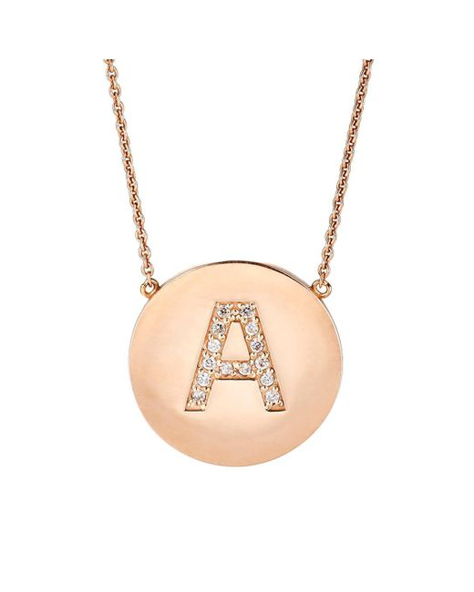 Jennifer Meyer - Multicolor Initial Pendant Necklace - Lyst