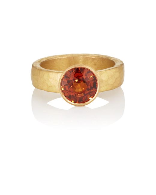 Malcolm Betts - Orange Mandarin Garnet Ring - Lyst