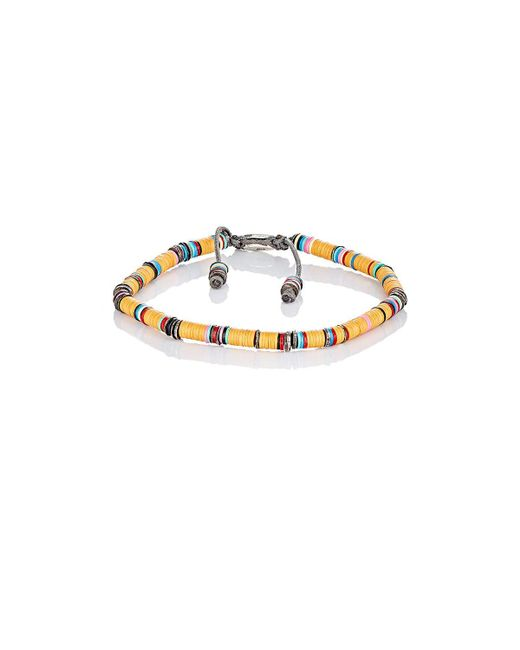 M. Cohen | Orange Rondelle Bracelet for Men | Lyst