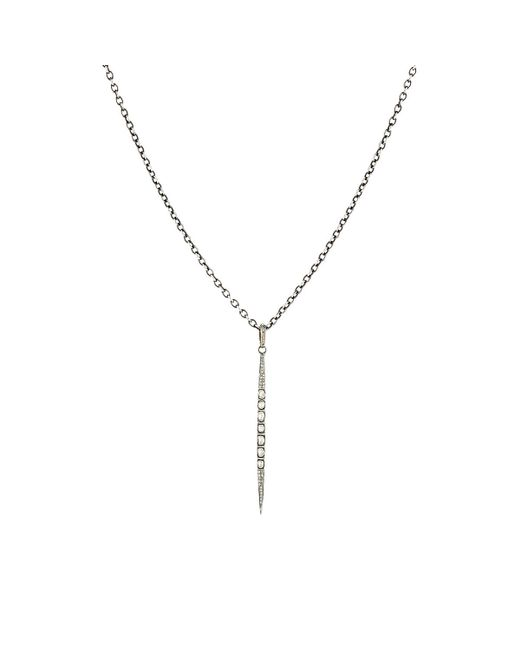 Feathered Soul | Metallic Stick Pendant Necklace | Lyst