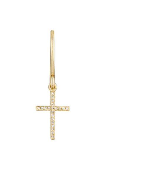 Jennifer Meyer - Metallic Cross Drop Earring - Lyst