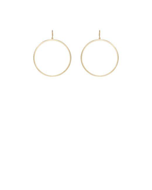 Jennifer Meyer - Metallic Open Circle Hoop Earrings - Lyst