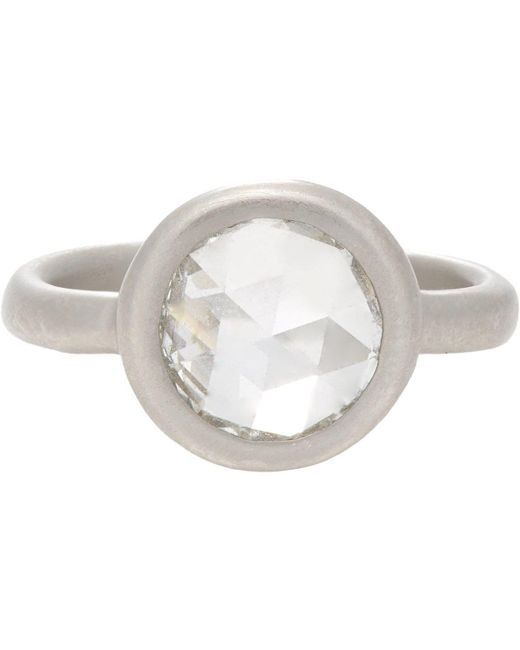 Linda Lee Johnson - Metallic Diamond & Platinum Casino Rose Ring - Lyst