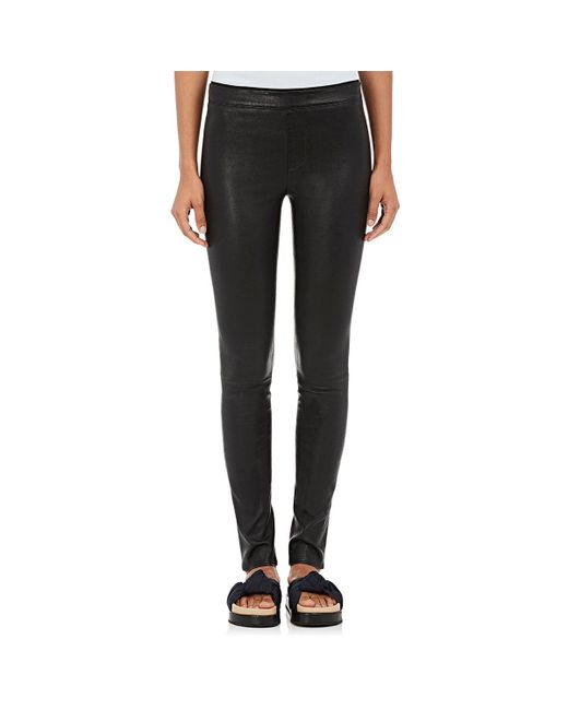 Helmut Lang - Black Stretch Leather Leggings - Lyst
