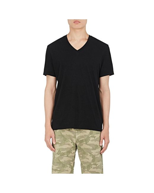 James Perse - Black V-neck T-shirt for Men - Lyst