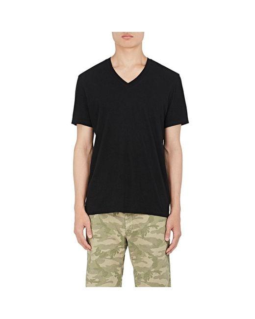 James Perse | Black V-neck T-shirt for Men | Lyst