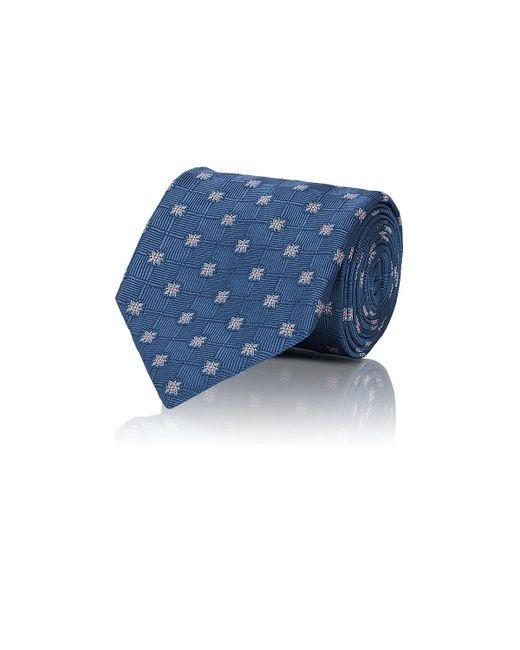 Brioni - Blue Floral Woven Silk Necktie for Men - Lyst