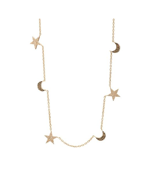 Bianca Pratt | Metallic Moon & Star Charm Necklace | Lyst