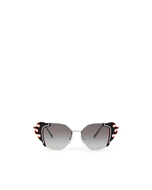 Prada - Red Flame Sunglasses - Lyst