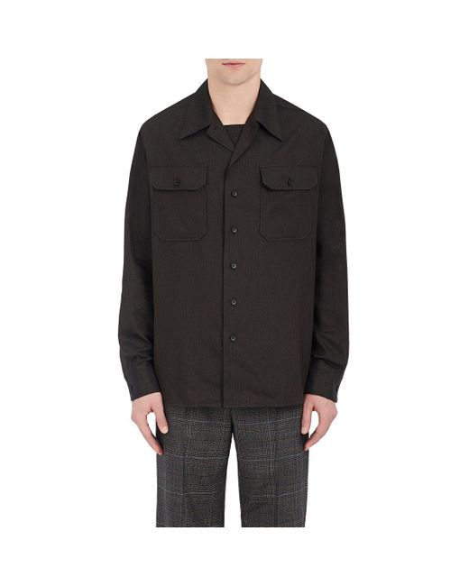 Maison Margiela | Brown Cotton Twill Military Shirt for Men | Lyst