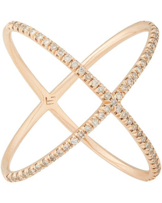 Eva Fehren - Metallic X Ring - Lyst