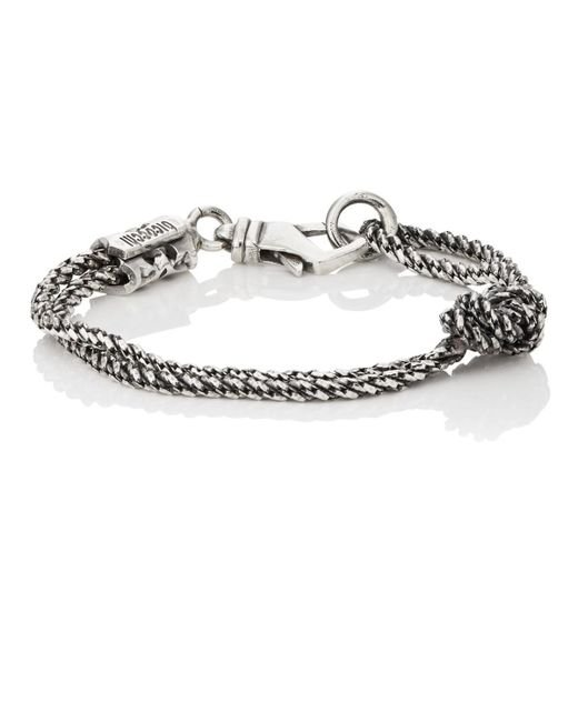 Emanuele Bicocchi - Metallic Knotted Double for Men - Lyst