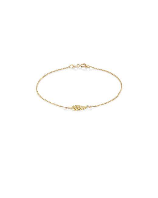 Jennifer Meyer - Yellow Leaf Charm Bracelet - Lyst
