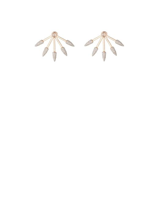 Pamela Love - White Five Spike Earrings - Lyst