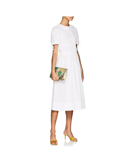 A Cotton Ruched Line Orsolina Brock Collection Poplin Lyst Dress qSzMVUp