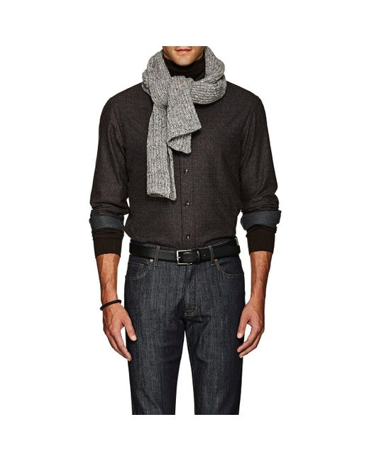 Inis Meáin | Gray Donegal-effect Rib-knit Merino Wool for Men | Lyst