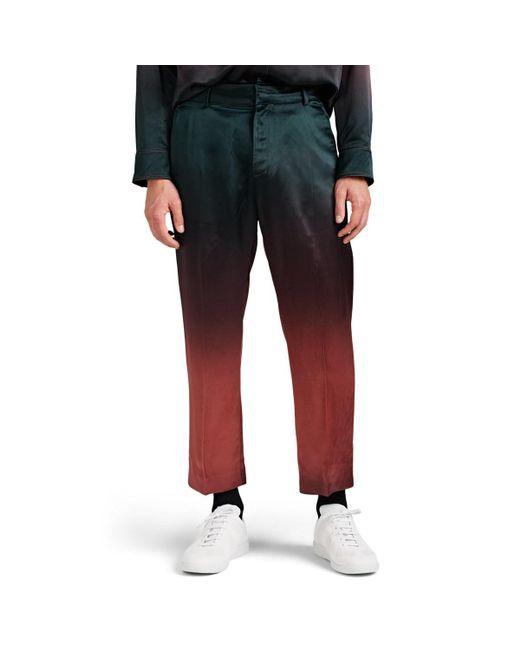 Sies Marjan - Multicolor Alex Dégradé Washed Satin Crop Trousers Size 30 for Men - Lyst