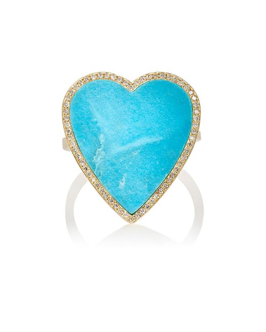 Jennifer Meyer - Blue Heart Ring - Lyst