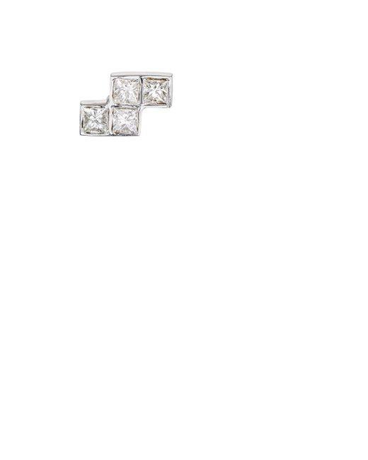 Ileana Makri   White Pixel Stud Earring   Lyst