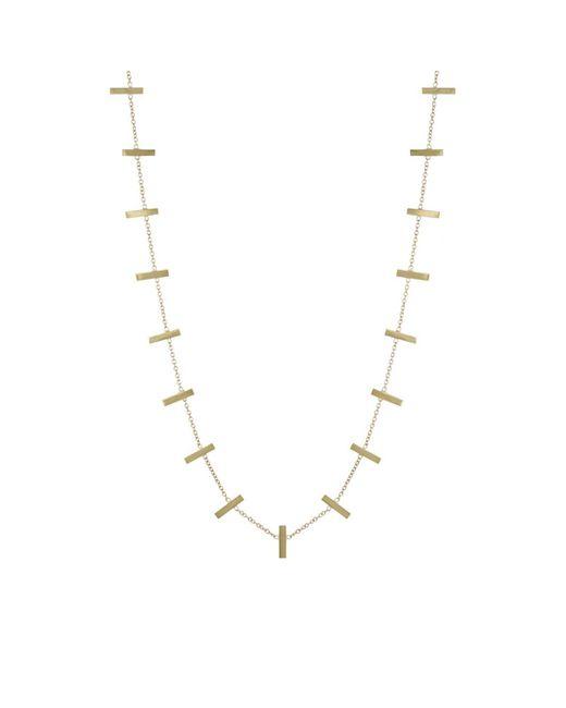 Jennifer Meyer - Metallic Cross Bar Necklace - Lyst