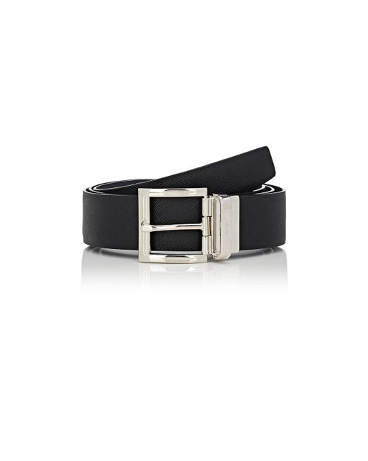 Prada - Black Reversible Saffiano Leather Belt for Men - Lyst