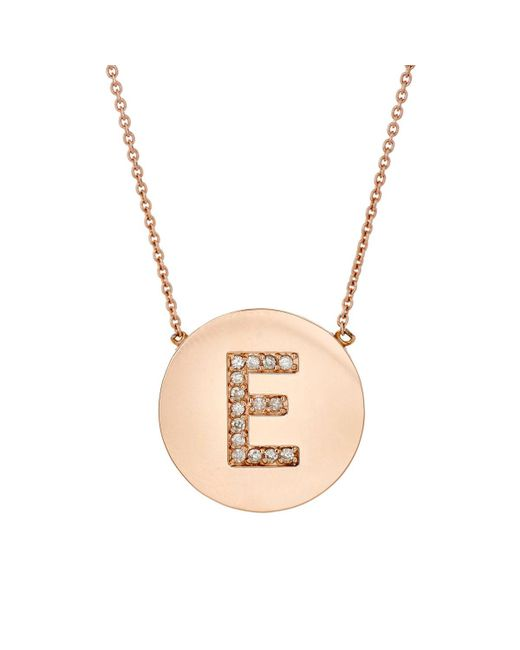 Jennifer Meyer | Metallic Initial Pendant Necklace | Lyst