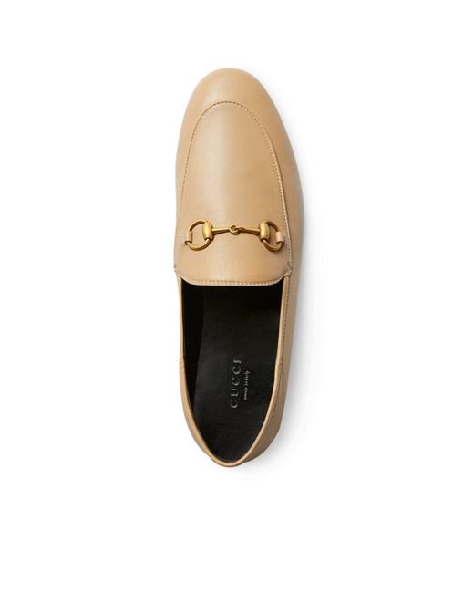 3a04151177c ... Gucci - Natural Brixton Leather Loafers - Lyst ...