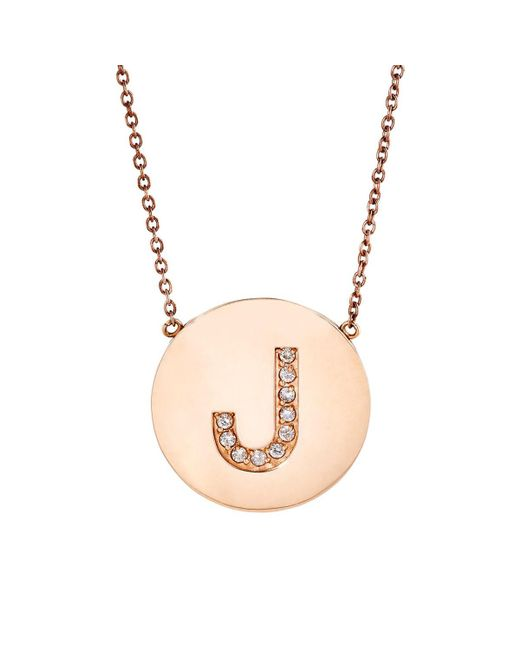 Jennifer Meyer - Pink Initial Pendant Necklace - Lyst
